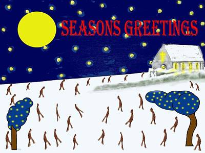 Seasons Greetings 80 Print by Patrick J Murphy