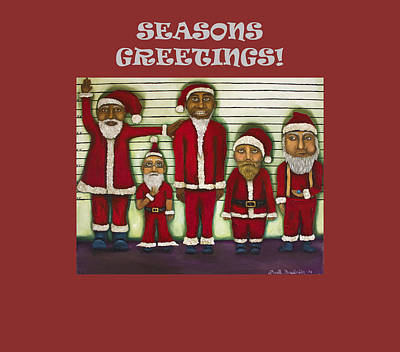 Jail Painting - Seasons Greetings With Line Up by Leah Saulnier The Painting Maniac