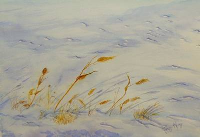 Snowscape Painting - Seasons Past by Peggy King