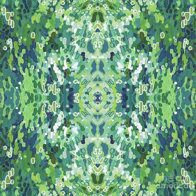 Juul Painting - Seasons- Summer Mandala by Margaret Juul