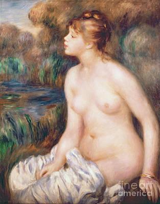 Feminin Painting - Seated Female Nude by Renoir