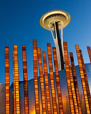 Wa Photograph - Seattle Center Twilight by Thorsten Scheuermann