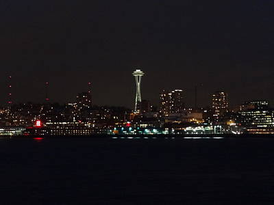 Seattle City Lights Print by Kyle Wood