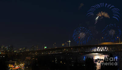 Seattle Fireworks Print by Mike Dawson
