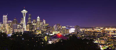 Seattle Nightscape 1 - Kerry Park Viewpoint Original by Paul Riedinger