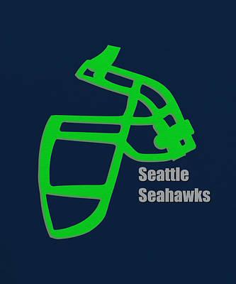 Seattle Photograph - Seattle Seahawks Retro by Joe Hamilton