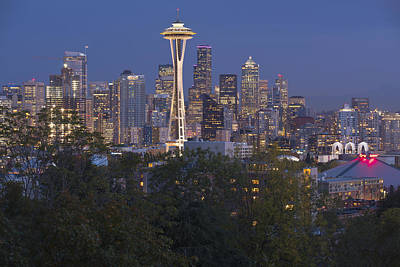 Seattle Skyline At A Blue Hour Washington State. Original by Gino Rigucci