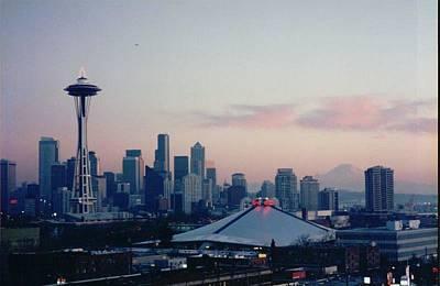 Seattle Skyline At Sunset Original by Maro Kentros