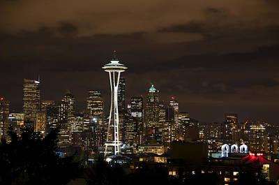 Seattle Skyline From Kerry Park 2571 Print by Bob Neiman