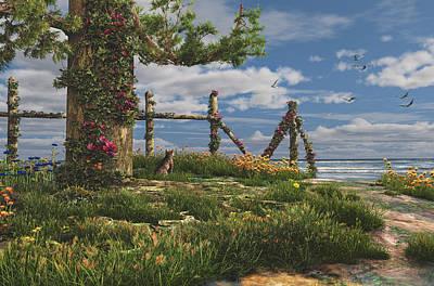 Seaview Retreat Print by Mary Almond