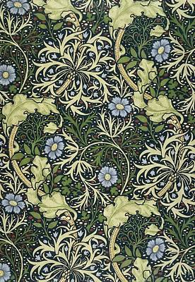 Seaweed Print by William Morris