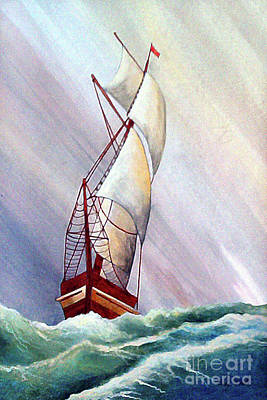 Historic Schooner Painting - Seawinds by Corey Ford