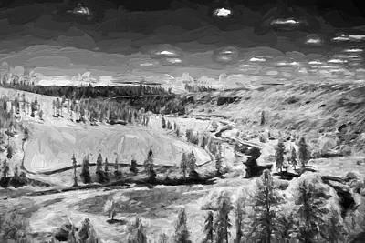 Artwork Digital Art - Secluded Valley II by Jon Glaser
