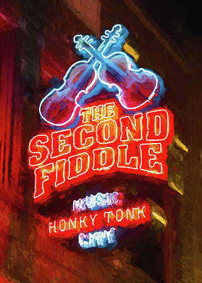 Second Fiddle - Impressionistic Print by Stephen Stookey