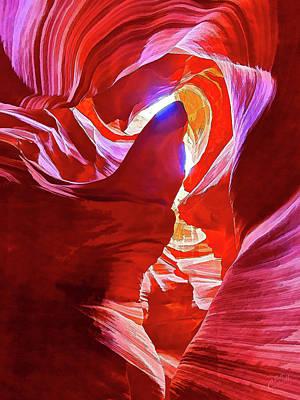 Manipulation Photograph - Secret Canyon 1 by Bill Caldwell - ABeautifulSky Photography