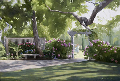 Garden Gates Painting - Secret Garden by Linda Tenukas