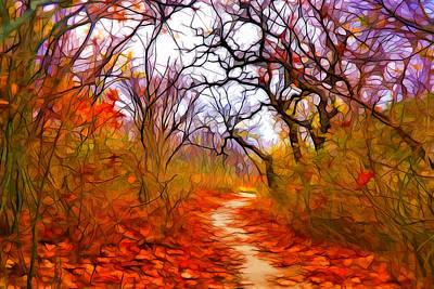 Plein Air Digital Art - Secret Path 2 by Lilia D