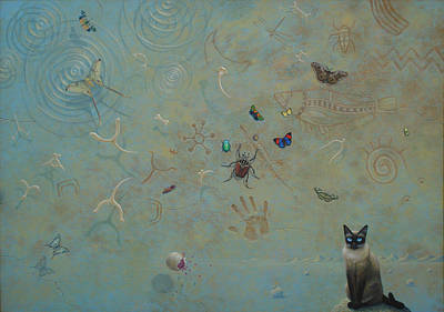 Beetle Cat Painting - Secret Relations by Tuco Amalfi