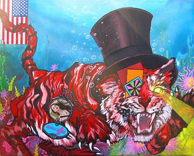 Randy Macho Man Savage Painting - Secret Tigers by Jacob Wayne Bryner