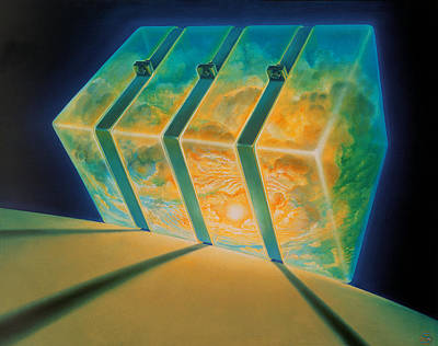 The Universe Painting - Security by De Es Schwertberger