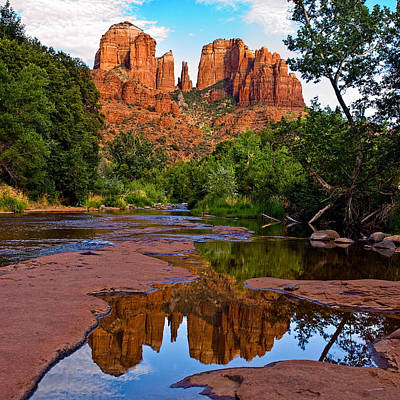 Cathedral Rock Photograph - Sedona Cathedral Rock Reflections by Dave Dilli