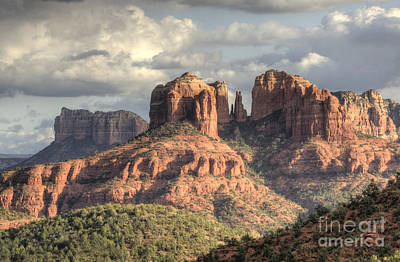 Cathedral Rock Photograph - Sedona Red Rock Vista by Sandra Bronstein