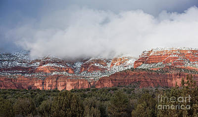 Winter Storm Photograph - Sedona Revealed by Sandra Bronstein