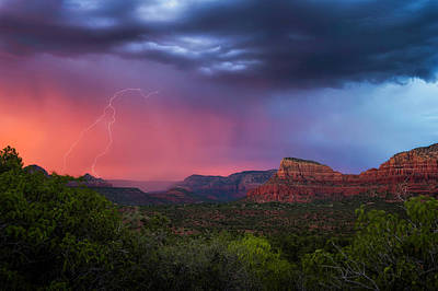 Photograph - Sedona Storm  by Ron McGinnis