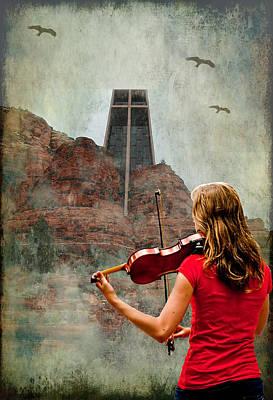 Violin Digital Art - Sedona Strings by Dale Stillman