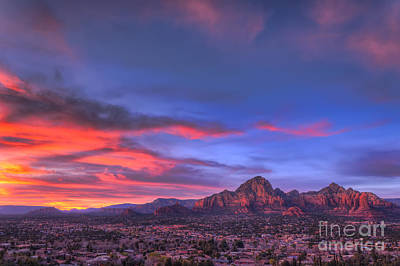 Sedona Sunset Print by Eddie Yerkish