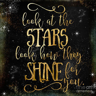 Word Painting - See How The Stars Shine by Mindy Sommers
