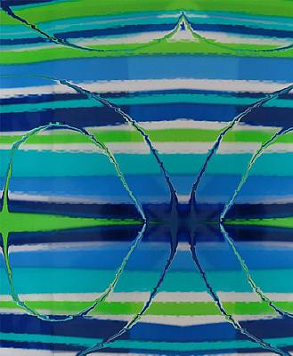 See Thru Blue Original by Florene Welebny