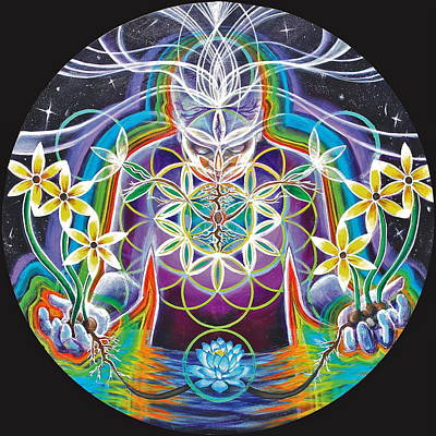 Inner World Painting - Seeds Of Life Within by Morgan  Mandala Manley