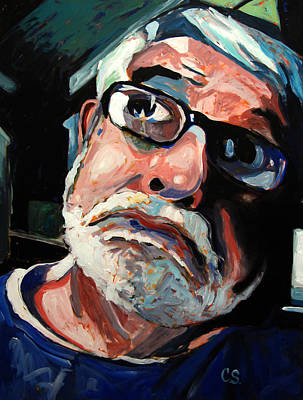 High Key Painting - Seeing Self-portrait by Charlie Spear