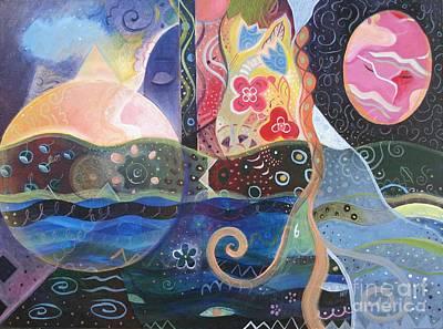 Subconscious Painting - Seeking Wisdom by Helena Tiainen
