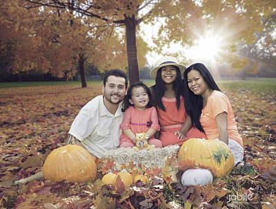Photograph - Segovia Fall Family Portrait by Jerome Obille