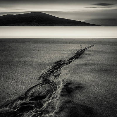 Bowmans Beach Photograph - Seilebost Sand Tracks by Dave Bowman