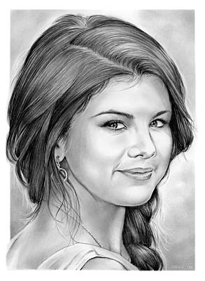 Disney Drawing - Selena Gomez by Greg Joens