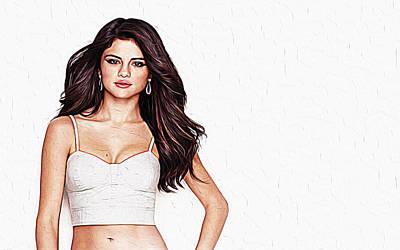 Taylor Swift Digital Art - Selena Gomez by Iguanna Espinosa