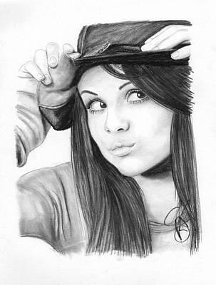 Markle Drawing - Selena Gomez by Rosalinda Markle