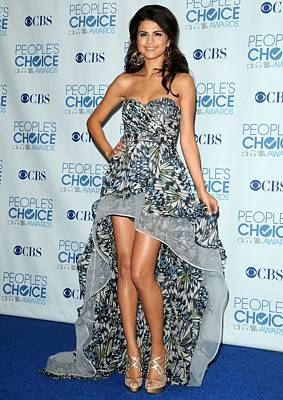 Evening Gown Photograph - Selena Gomez Wearing An Irina Shabayeva by Everett