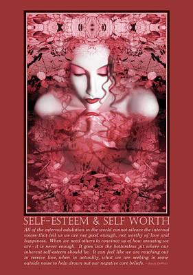 Self Portrait Photograph - Self-esteem And Self-worth by Jaeda DeWalt