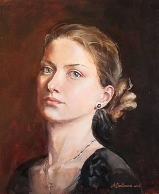 Eastern Europe Painting - Self-portrait 2 by Alina Burlakova