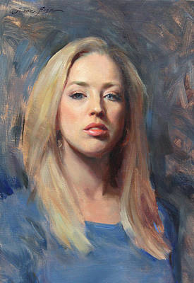 Self-portrait Painting - Self Portrait At 30 by Anna Rose Bain