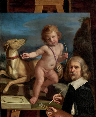 Giovanni Francesco Barbieri Painting - Self Portrait by Giovanni Francesco Barbieri