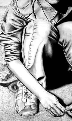 Hoodies Drawing - Self Portrait by Jera Sky