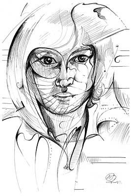 Self Portrait Print by Nicholas Burningham