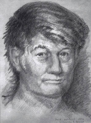 Self-portrait Drawing - Self Portrait by Willoughby Senior
