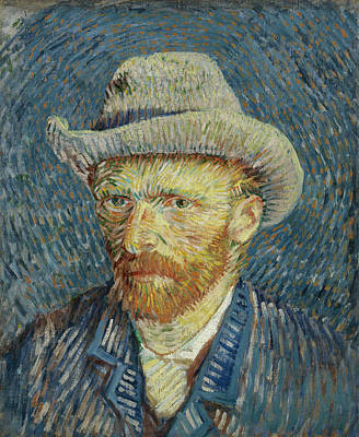 Self-portrait With Grey Felt Hat Print by Vincent van Gogh