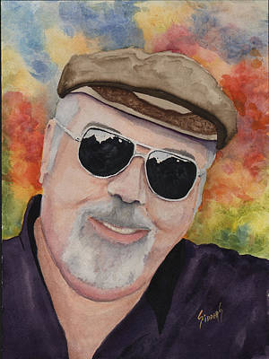 Self Portrait With Sunglasses Print by Sam Sidders